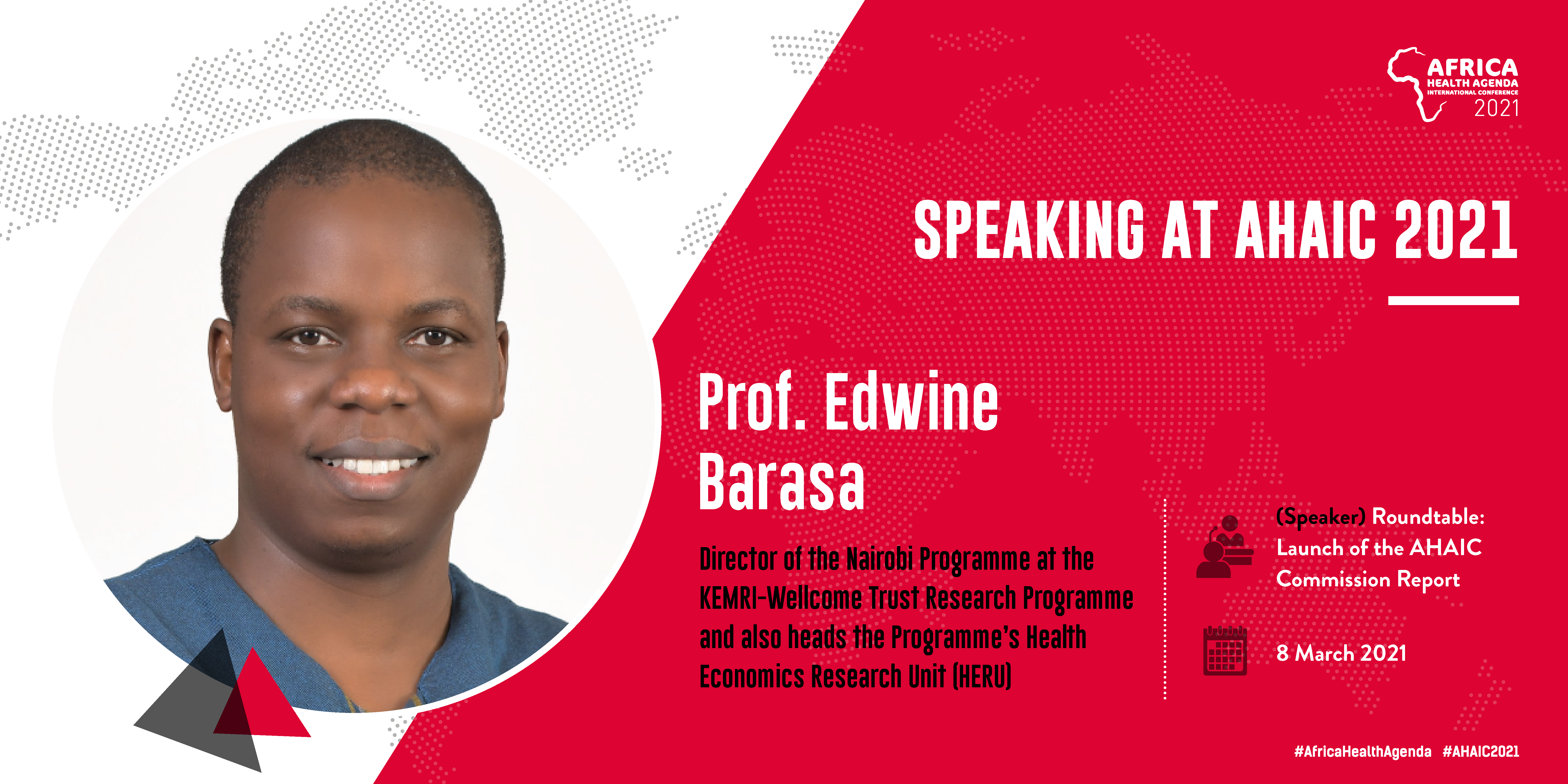 Prof. Edwin Barasa - Speaking at AHAIC 2021 Conference